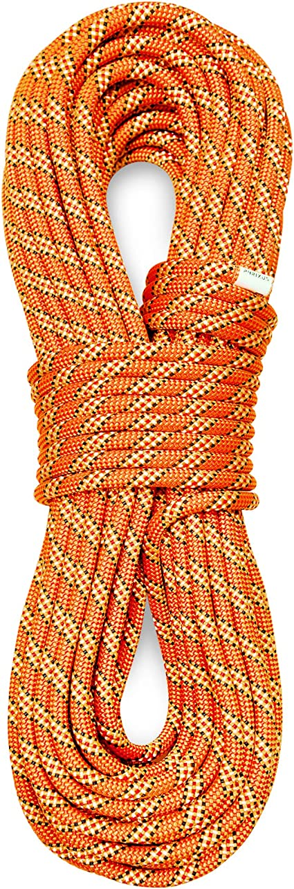 PHRIXUS 9.8mm Dynamic Climbing Rope 40M 70M Safety Nylon Kernmantle Rope for Rock Climbing Rescue Ice Climbing Rappelling Arborist and Tree Climbing Mountaineering