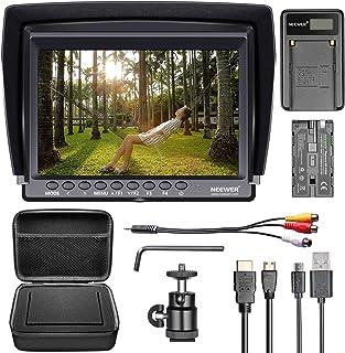 Neewer F100 Set monitorkamera: 17,78 cm (7 tum) Ultra HD 1280 x 800 IPS-bildskärm F550-ersättningsbatteri micro-USB-laddar...