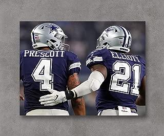 Kai'Sa Dallas Cowboys Prescott & Elliott Poster Art Print Posters,18''×24'' Unframed Poster Print
