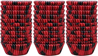 Elcoho 300 Pieces 2 Inches Buffalo Plaid Cupcake Liners Cupcake Cases Muffin Wrappers Baking Cups