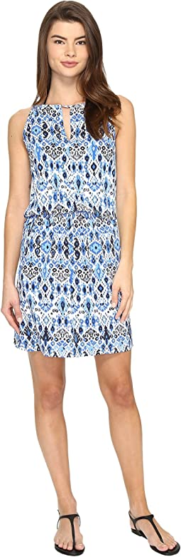 Ikat High Neck Short Dress Cover-Up