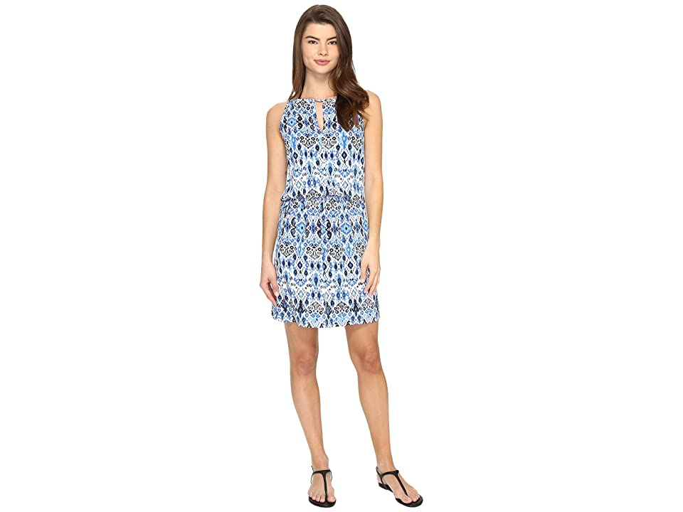 Tommy Bahama Ikat High Neck Short Dress Cover-Up (Vivid Blue) Women