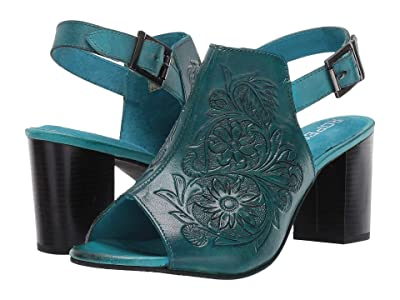 Roper Mika (Burnished Turquoise Hand Tooled Leather) Women