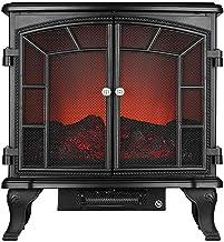 FMHCTN Calentador de Estufa para Espacios Interiores, Estufa de Efecto Llama Realista de Doble Puerta, Estufa eléctrica Independiente para Fuego, 2000W