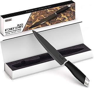 Samurai Couteaux ceramique Professionnels 20CM lot Couteau Professionnelle Couteaux Cuisine Noir