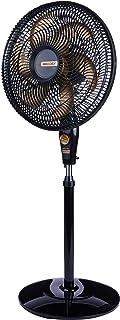 Ventilador de Coluna, Delfos TS+, Preto/Dourado, 110v, Mallory