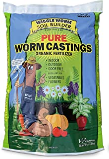 Wiggle Worm Worm Castings Organic Fertilizer, Soil Builder, 30-pounds