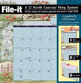 Lang WSBL Comforts of Home 2019 File-It Office Wall Calendar (19997006038)