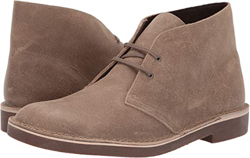 Taupe Distressed Suede