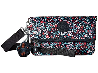 Kipling Lynne Print (Glistening Poppy Blue) Handbags