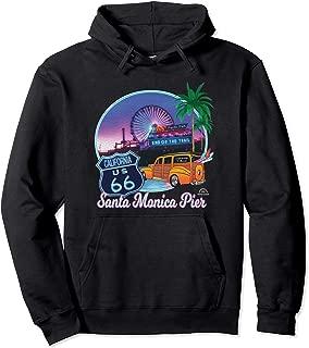 Santa Monica Pier US Route 66 End Pacific Ocean Souvenir Pullover Hoodie