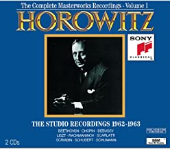 Vladimir Horowitz, Complete Masterworks Recordings 1962-1973, Vol. I: The Studio Recordings 1962-63
