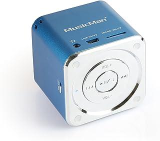 (Mini MusicMan Blue) - MusicMan TXX3530 Mini Soundstation (MP3 Player, Loudspeaker, Line in Function, SD/microSD Card Slot...