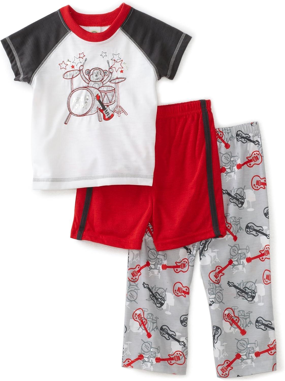 Little Me Baby Boys' Rock 3 Piece Sleepwear Set