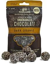 Tom & Luke Healthy Snacks (6 Packs x 8 Balls) - Delicious Dark Orange Chocolate Snack Balls for Adults - Vegan, Gluten Free, Dairy Free & No Added Refined Sugar - Whole Food Fruit & Nut Energy Boost