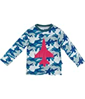 Long Sleeve Print Easy Fit Crew Neck Tee (Toddler)