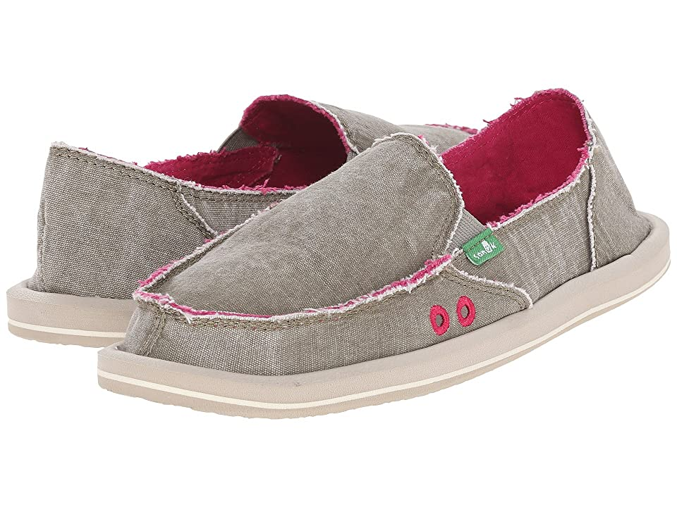 Sanuk Donna Distressed (Grey Olive) Women