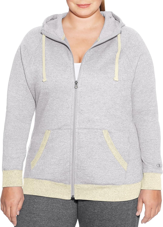 Champion Women's Plus-Size Fleece Full Zip Hoodie