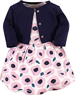 Touched by Nature Baby-Girls Organic Cotton Cardigan and Dress Long Sleeve Casual Dress