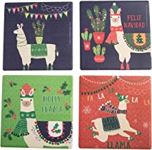 Thirstystone Set of 4 Llama Christmas Coasters