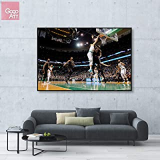 GoGoArt ROLL Canvas Print Wall Art Photo Big Picture Poster Decor (no Framed no Stretched not Oil Painting) Jayson Tatum Boston Celtics NBA All Star MVP Basketball Sport Art A-0162-1.5 (40 x 60 inch)