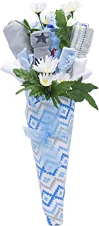 Nikki's New Baby Blossom Clothing Bouquet Gift (Blue or Pink) | Baby Boy