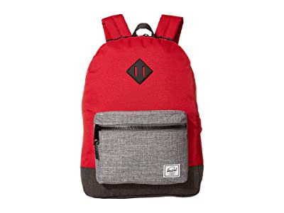 Herschel Supply Co. Kids Heritage XL Backpack (Little Kids/Big Kids) (Red/Raven Crosshatch/Black Crosshatch) Backpack Bags