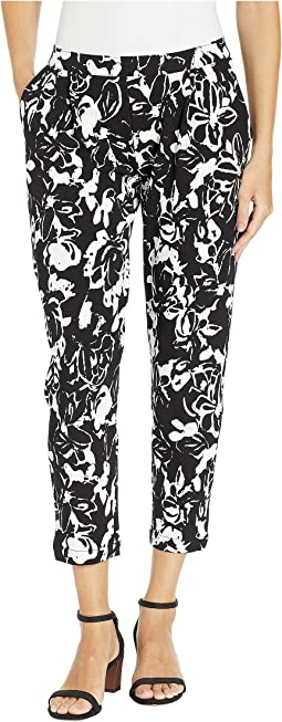 Floral Print Loafer Skimmer Leggings