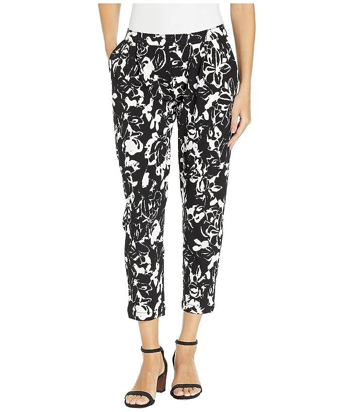 HUE Floral Print Loafer Skimmer Leggings (Black) Women