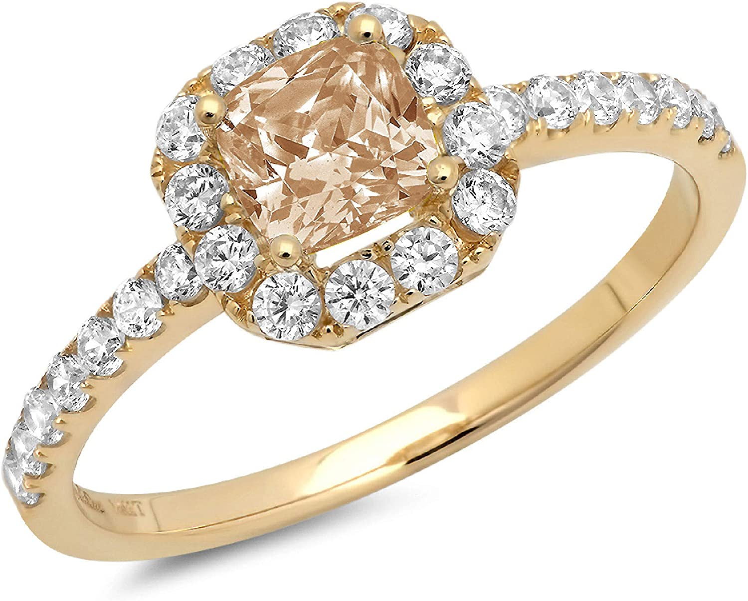 1.37ct Brilliant Princess Cut Solitaire (訳ありセール 格安) with accent Brown 70%OFFアウトレット Champa