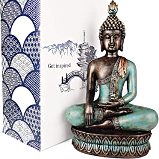 "25DOL Buddha Statues for Home. 13"" Buddha Statue (The Moment of Enlightenment)..."