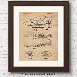 Original Space NASA Patent Poster Prints, Set of 1 (11x14) Unframed Photo, Wall Art Decor Gifts Under 15 for Home, Office, Man Cave, School, College Student, Teacher, Pilot, Aviation & Astronomy Fan