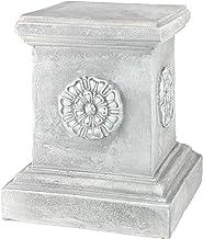 English Rosette Garden Sculptural Plinth - Large