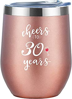 30th Birthday Gifts for Women Tumbler| Cheers to 30 Years Stainless Steel Insulated Tumbler with Lid and Straw | Funny and Unique Presents for Women Turning 30 Anniversary Gift Under 20 Dollars …