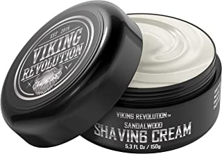 Luxury Shaving Cream for Men- Sandalwood Scent - Soft, Smooth & Silky Shaving Soap - Rich Lather for the Smoothest Shave -...