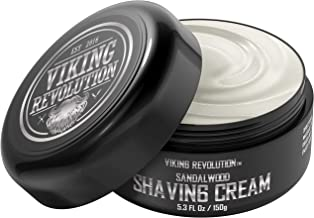 Luxury Shaving Cream for Men- Sandalwood Scent - Soft, Smooth & Silky Shaving Soap - Rich Lather for the Smoothest Shave - 5.3oz