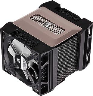 Corsair A500, High Performance CPU Kühler mit Doppellüfter (Kühlt bis zu 250W TDP, Intuitives Lüfterhalterungssystem, Zwei Corsair ML120 Lüfter, Aufgetragenes Bereits Wärmeleitmittel) Schwarz