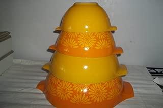 Pyrex Cinderella Mixing Bowl Set Sunflowers 441,442,443,444