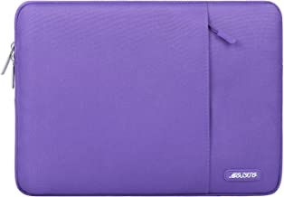 MOSISO Laptop Sleeve Compatible 15 Inch MacBook Pro Touch Bar A1990 A1707, 14 Inch ThinkPad Chromebook, Water Repellent Polyester Vertical Bag Case Tablet with Accessory Pocket, Ultra Violet