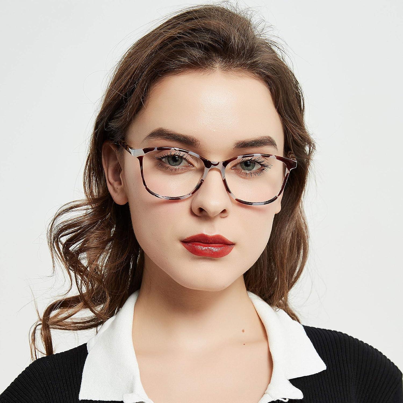 Madison Avenue Blue Light Blocking Glasses Anti Eyestrain UV Glare Blue Light Glasses for Women TV Phone Computer Gaming Eyeglasses Crystal Brown