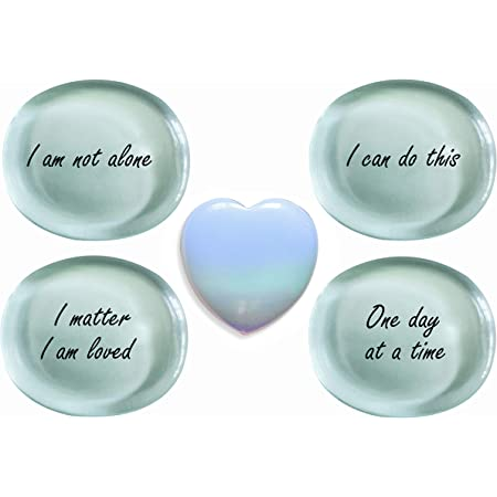 Anxiety Relief Mental Health Gift Stress Relief Heart Worry Stone  Pocket Pebble With Card /& Gift Packaging Relaxation