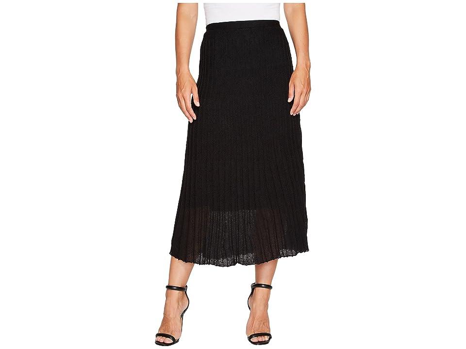 NIC+ZOE Fluid Knit Skirt (Black Onyx) Women