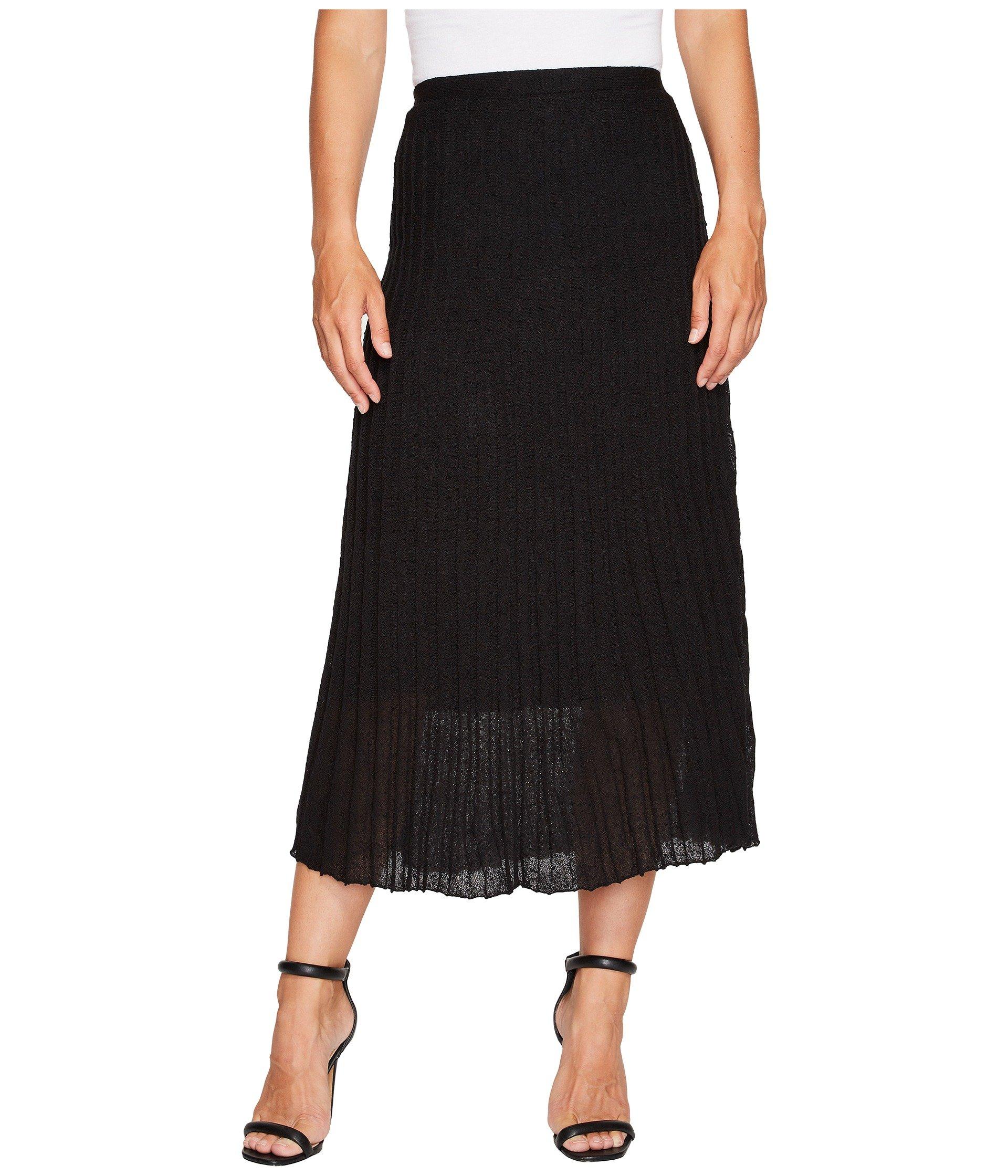 Fluid Knit Skirt, Black Onyx