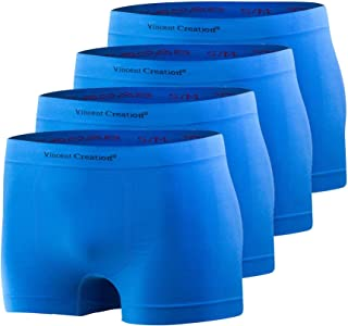 Vincent Creation® 4 Pack Men's Underwear Boxer Briefs, Seamless Boxershorts, Trunks