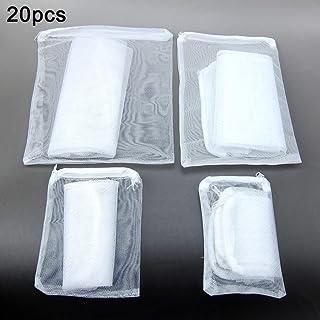 Alfie Pet - Keaton 20-Piece Set Aquarium Filter Bags for Activated Carbon, Biospheres - Color: White