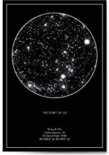 the night sky custom star map