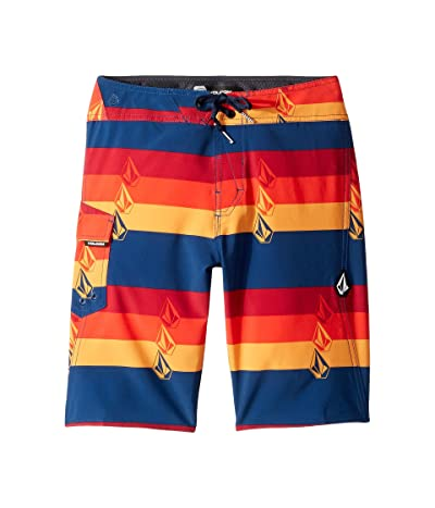 Volcom Kids Lido Liney Mod Boardshorts (Big Kids) (Indigo) Boy