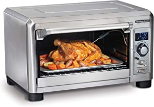 Hamilton Beach Professional Countertop Toaster Oven, Digital, Convection, Large 6-Slice, Temperature Probe, Stainless Steel (31240),