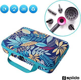 Spiido [2019 Upgrade] Hard Travel Case for Dyson Supersonic Hair Dryer, Multicolor Tropical Jungle Simple Portable Storage Box, Travel Anti-scratch Multi-functional Case for Dyson Hairdryer