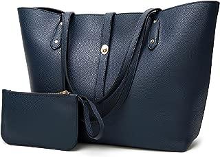 Leather New Women's Handbags Fashion Shoulder Wallet Daughter Package Women's Bags Women's Leather Handbags Waterproof (Color : Blue, Size : M)